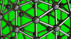 Abstract Molecular Structure isolated on green screen Stock Footage