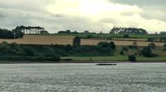 Scotland city of Invergordon 014 rolling countryside at eastern Scottish coast Stock Footage