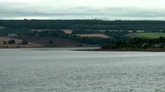Scotland city of Invergordon 011 rolling countryside at eastern Scottish coast Stock Footage