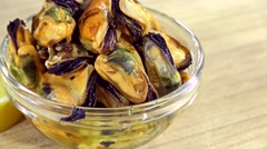 Mussels (not loopable) Stock Footage