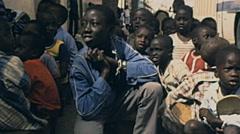 Senegal 1985: children portrait Stock Footage