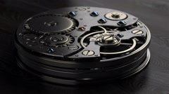 Close up watch mechanism Stock Footage