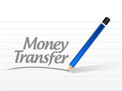 Stock Illustration of money transfer message sign illustration design