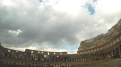 Colosseum Time lapse in Blue Fluffy Clouds / Rome / Itally Stock Footage