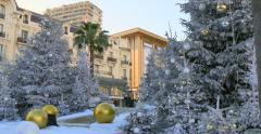 Christmas and New Year time in Monaco. Stock Footage