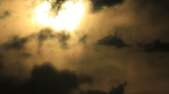 Bright spot on sky clouds Stock Footage