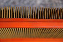 Automobile air filter Stock Photos