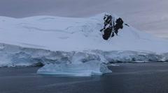 Iceberg in Paradise Harbour, Antarctica - stock footage