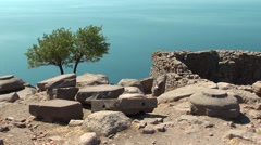 Stock Video Footage of Ruined Athena Temple in Assos, Turkey