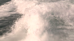 Shot of water trail left behind from a speeding boat. Stock Footage
