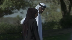 An Arabic family having fun in a park. Arkistovideo