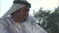 An Arabic man in a park. - stock footage