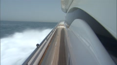 Shot on one side of a boat while it sails. Stock Footage
