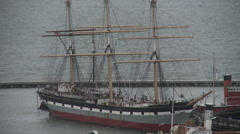 Clipper Ship Close Up Stock Footage