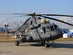 Mi-8 military helicopter - stock photo