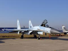 Jet fighter plane - stock photo