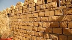 Closeup shot of stone wall Texture Stock Footage