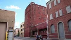 Abandoned Gowanus Buildings with Graffiti Brooklyn Stock Footage