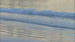 Waves role on the shore on a beach. Stock Footage