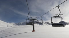 Ski lift in the pyrenees Stock Footage