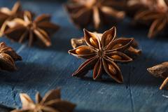 Organic Dry Star of Anise Stock Photos
