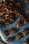 Organic Dry Star of Anise - stock photo