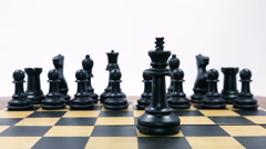 Chess Game. Checkmate in Slow Motion. HD - stock footage