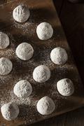 Homemade Sugary Donut Holes - stock photo