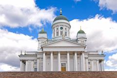 Cathedral in Helsinki. - stock photo