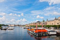 Embankment Stockholm. - stock photo