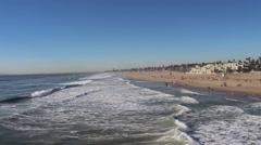 Ocean Waves Rolling on Shore - stock footage