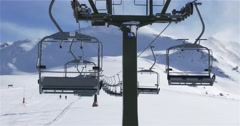 Empty Ski lift in movement Stock Footage