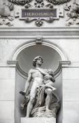 Burgtheater, Vienna, statue shows an allegory of heroism - stock photo
