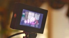 Using slate movie making film maker 2 Stock Footage