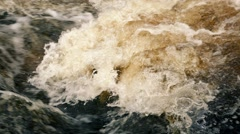 Frothing River Water Stock Footage