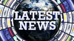 LATEST NEWS, Earth and Monitors Tunnel, Zoom In Camera Stock Footage