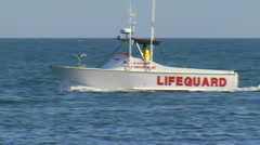 Life Guard Boat Stock Footage