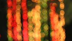 Boke - unfocussed colored lights Stock Footage