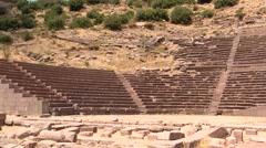 Amphitheater Assos, Turkey - stock footage