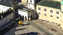 Timelapse of people visiting the cathedral of Salzburg Stock Footage