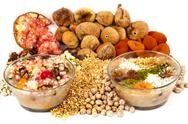 Wheat pudding with dried nuts and fruits, Turkish dessert (Asure Stock Photos