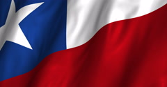 Chile Waving Flag-4K Stock Footage