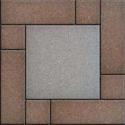 Gray and Brown Pavement. Seamless Texture - stock illustration