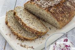 Homemade brown bread - stock photo