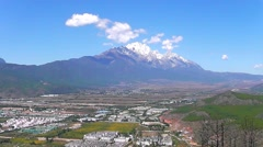 Dragon Snow Mountain in Lijiang , Yunnan China Stock Footage