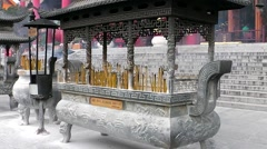 In Chongshen Buddhist monastery. Dali. China. Stock Footage