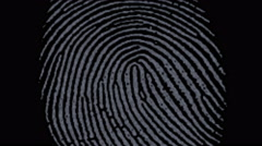 4k Fingerprint identity scan password,spy hacker search Gene sequencing tech. Stock Footage