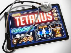 Tetanus on the Display of Medical Tablet Stock Illustration
