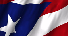 Puerto Rico Waving Flag-4K Stock Footage