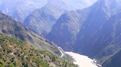 Tiger leaping gorge. Tibet. China. Stock Footage